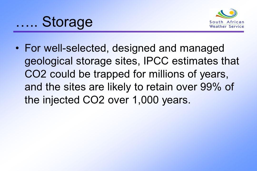 …..Storage Ocean storage Two main concepts exist.