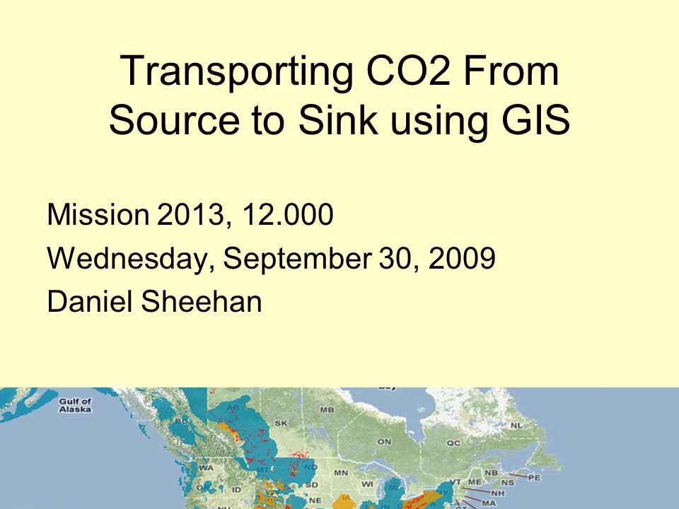Outline What is a GIS –Data Types –Symbolizing data Useful data for Carbon Sequestration –Power plants –Potential Sinks Processing –Network Analysis –Cost Path Analysis