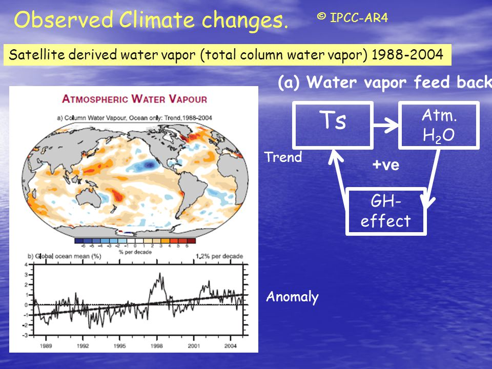Observed Climate changes.