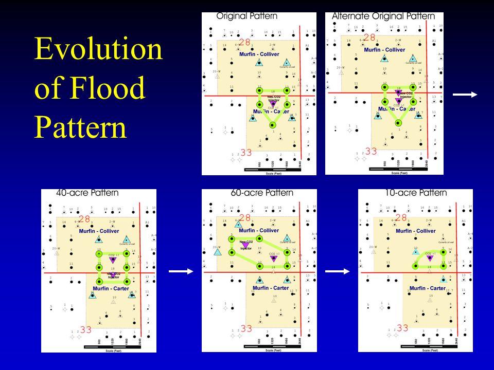 Evolution of Flood Pattern