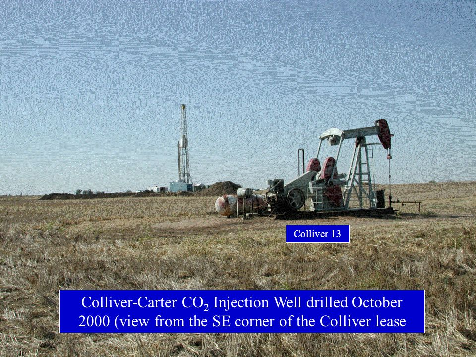 Colliver-Carter CO 2 Injection Well drilled October 2000 (view from the SE corner of the Colliver lease Colliver 13