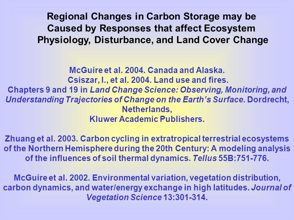 McGuire et al. 2004. Canada and Alaska. Csiszar, I., et al.