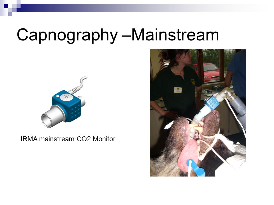 Capnography –Mainstream IRMA mainstream CO2 Monitor