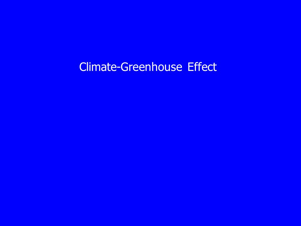 Climate-Greenhouse Effect