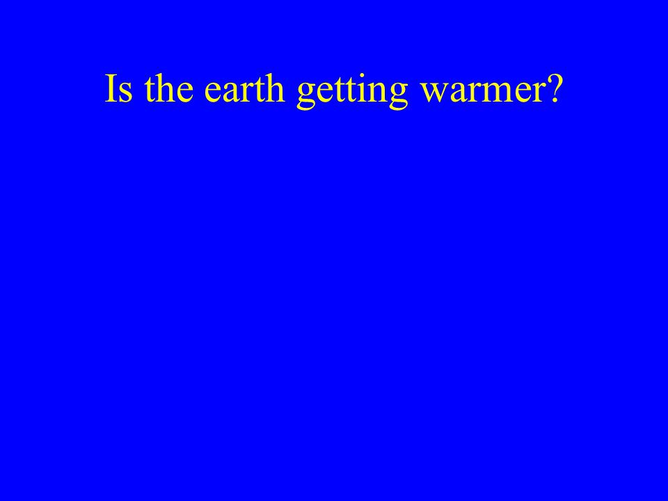 Is the earth getting warmer?