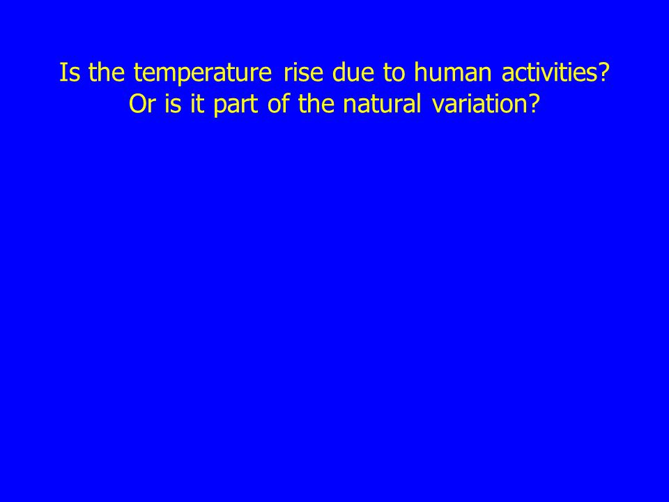Is the temperature rise due to human activities? Or is it part of the natural variation?