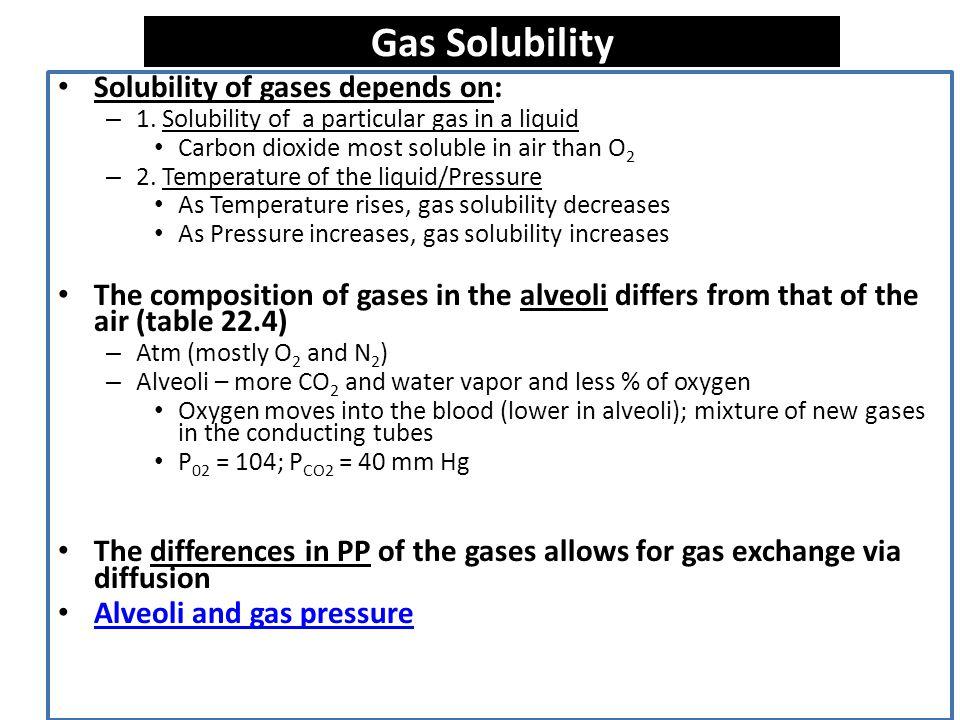 Factors Influencing Movement of Gases 1.