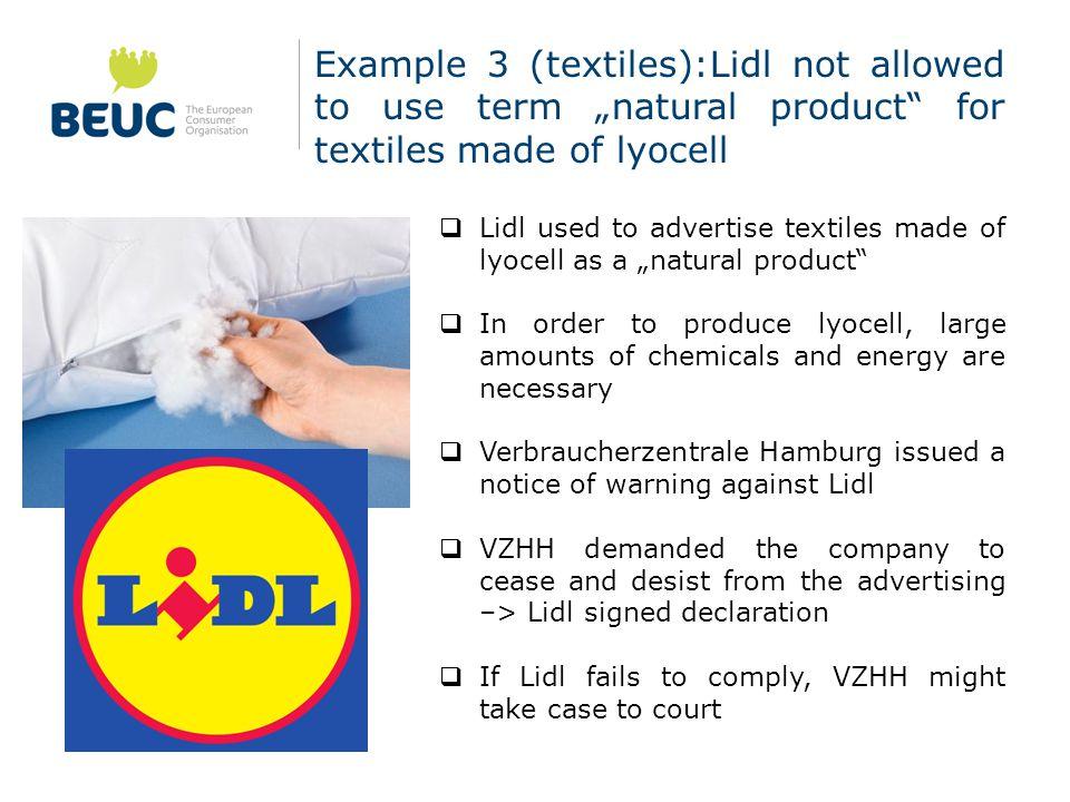 Example 4 (toilet cleaners): Tesco naturally (UK) – test by which.