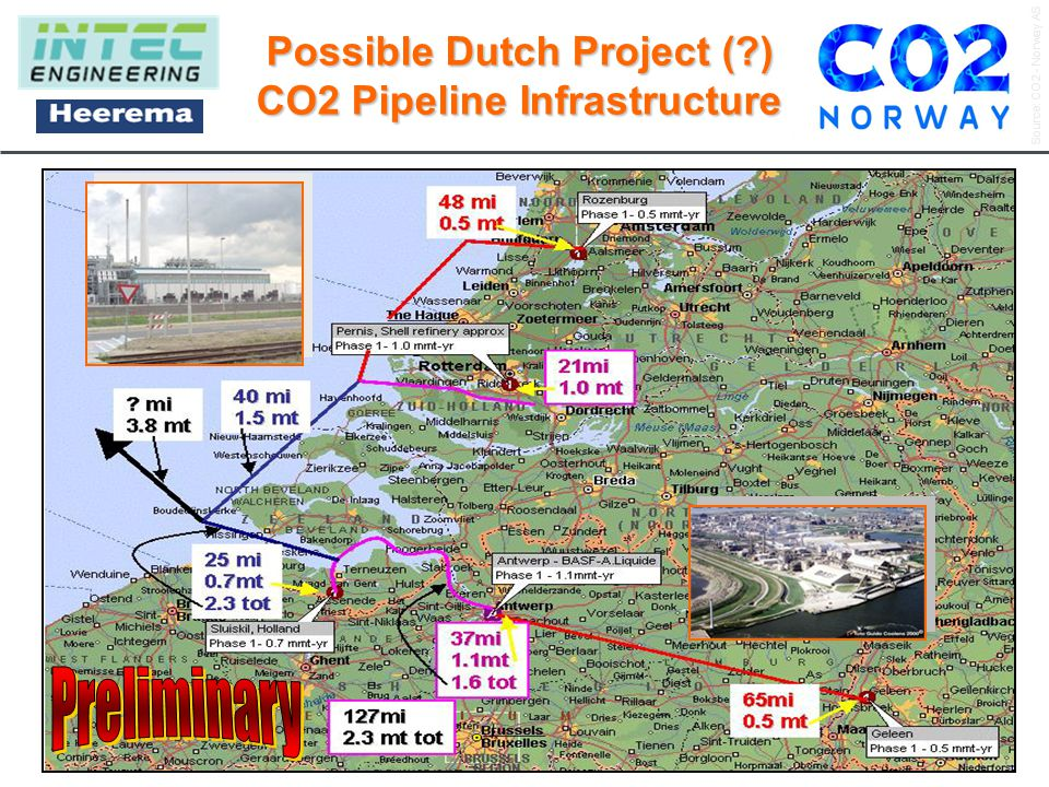 Source: CO2 - Norway AS A company focused on developing projects, technology and commercial solutions to mitigate CO2-emissions into the atmosphere. w