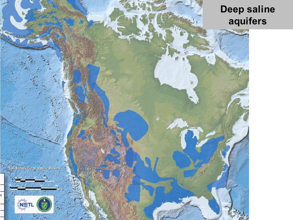 Deep saline aquifers