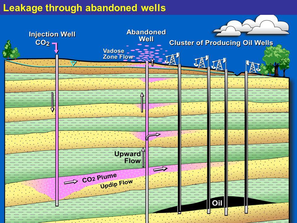 Leakage through abandoned wells