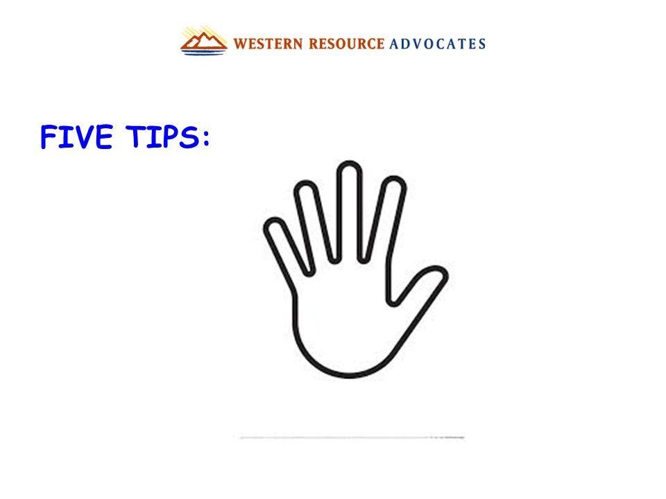 FIVE TIPS: