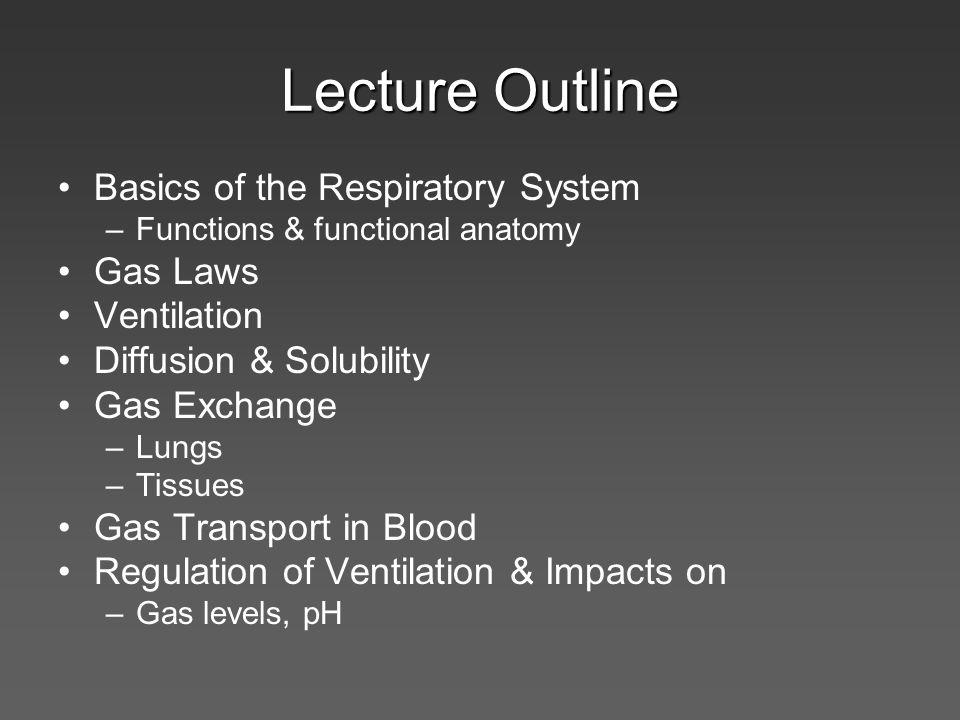 Regulation of Ventilation Peripheral & Central Chemoreceptors