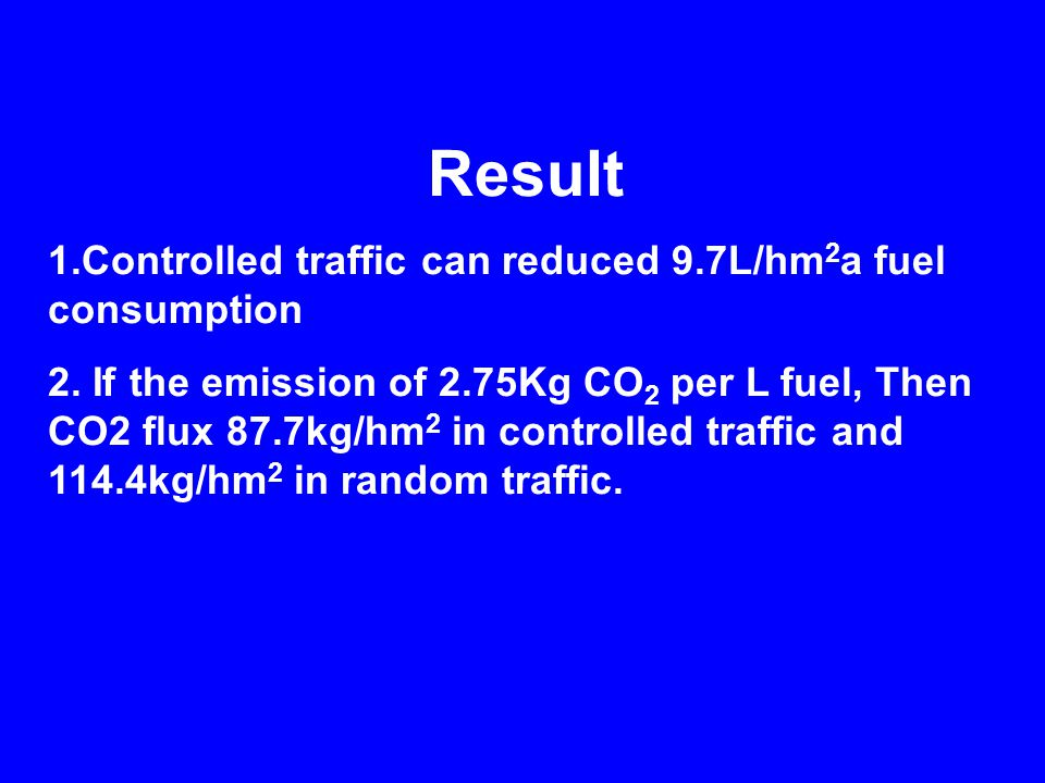 Result 1.Controlled traffic can reduced 9.7L/hm 2 a fuel consumption 2.