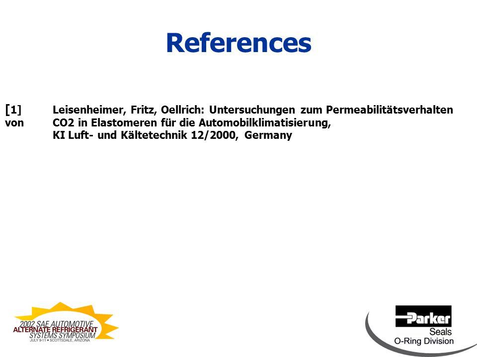 [ 1]Leisenheimer, Fritz, Oellrich: Untersuchungen zum Permeabilitätsverhalten von CO2 in Elastomeren für die Automobilklimatisierung, KI Luft- und Kältetechnik 12/2000, Germany References