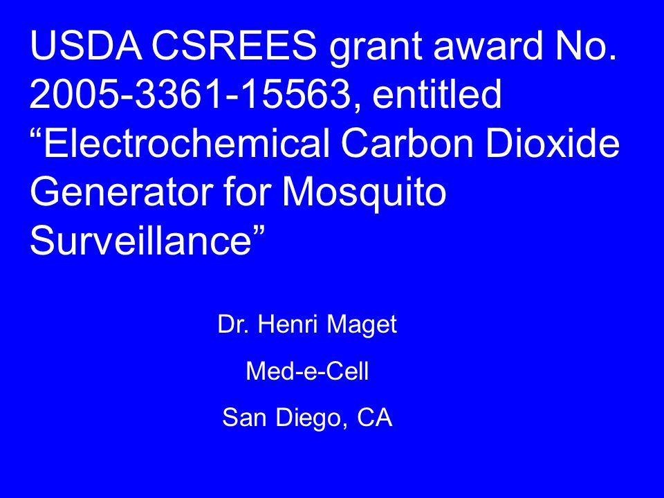 USDA CSREES grant award No.