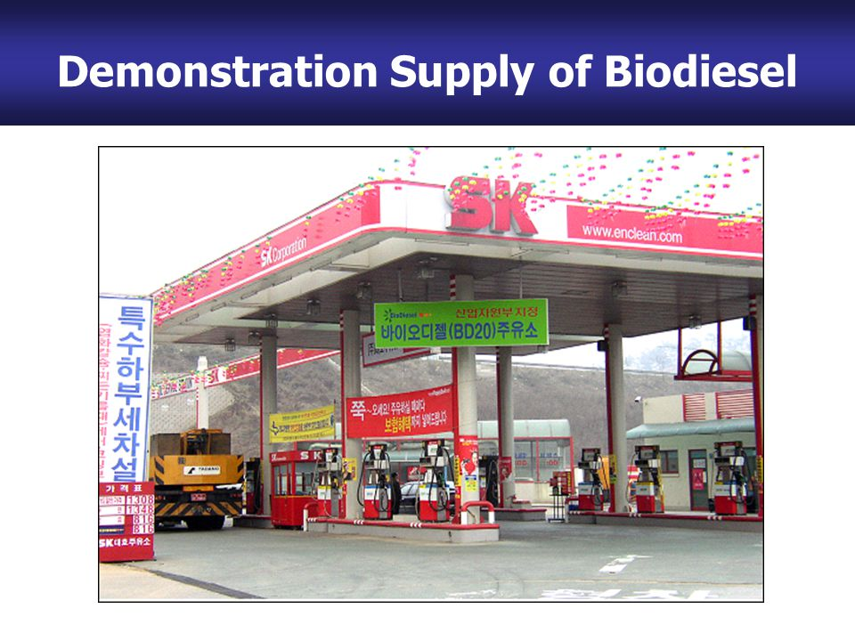 Bio-Diesel Plant (100,000 ton/yr) Demonstration Supply of Biodiesel