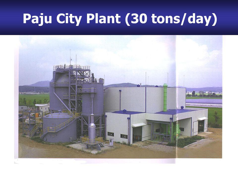 (2) Paju City Plant (Capacity: 30 ton/day) Paju City Plant (30 tons/day)