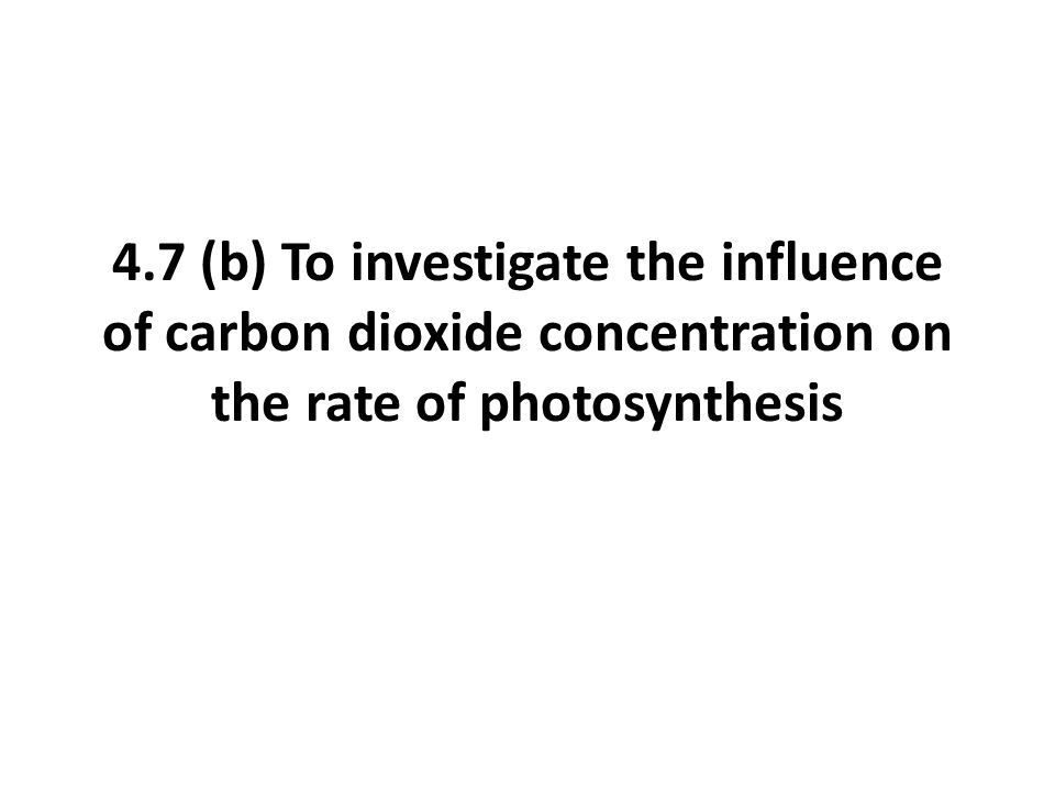 Expected Graph Rate of Photosynthesis Carbon dioxide concentration