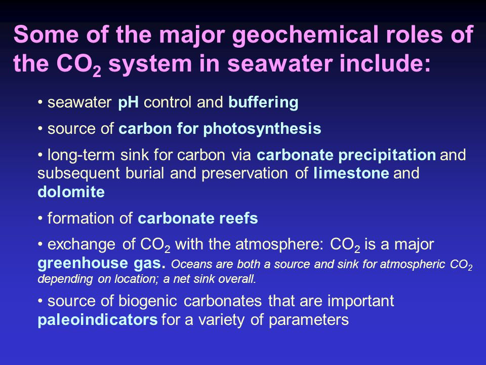 CO 2 (aq) is in equilibrium with the atmosphere such that: [CO 2 aq ] = H CO2 * pCO 2 Where H CO2 is the Henry's Law constant for CO 2 and pCO 2 is the partial pressure of CO 2.