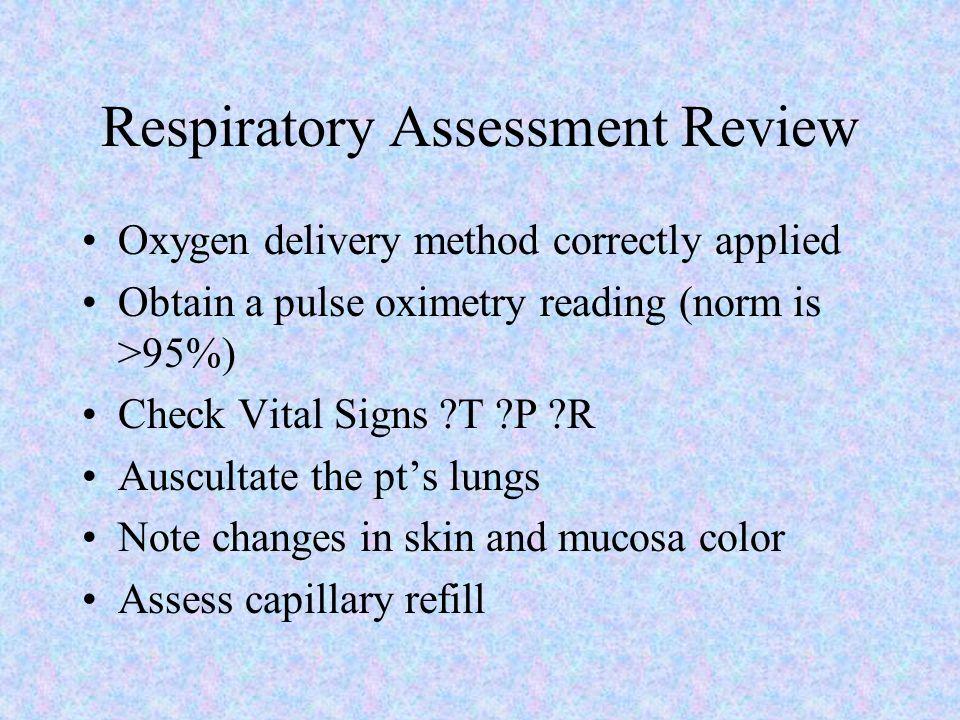 Assessing Respiratory Functioning Cough: Nonproductive Productive Sputum Hemoptysis Adventitious Sounds: Crackles: fine,medium,coarse Wheeze: sibilant