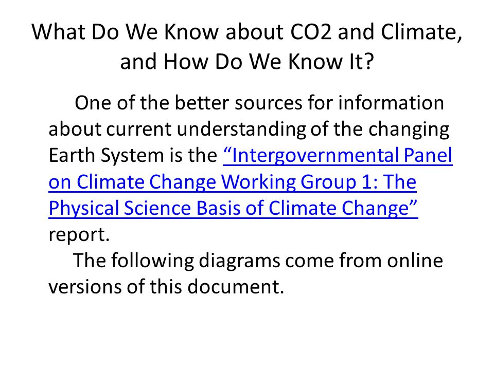 What Do We Know about CO2 and Climate, and How Do We Know It.