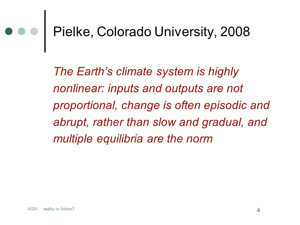 AGW..reality or fiction. 75 Anthropogenic Global Warming Reality or Fiction.