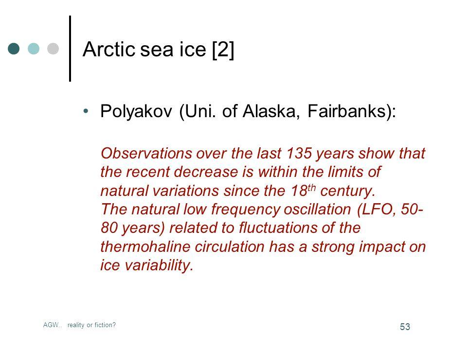 AGW.. reality or fiction. 53 Arctic sea ice [2] Polyakov (Uni.
