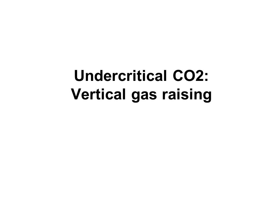 Undercritical CO2: Vertical gas raising