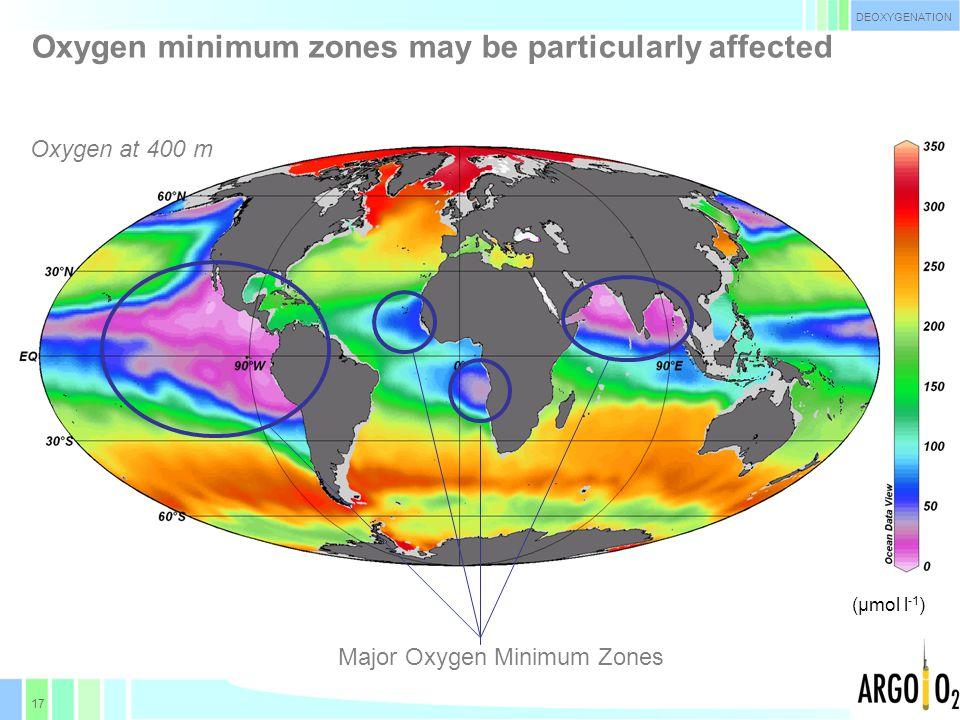 18 Evolution of oxygen content in O 2 -minimum regions Stramma et al.
