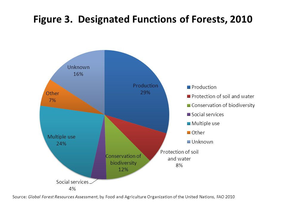 Figure 3. Designated Functions of Forests, 2010 Source: Global Forest Resources Assessment, by Food and Agriculture Organization of the United Nations