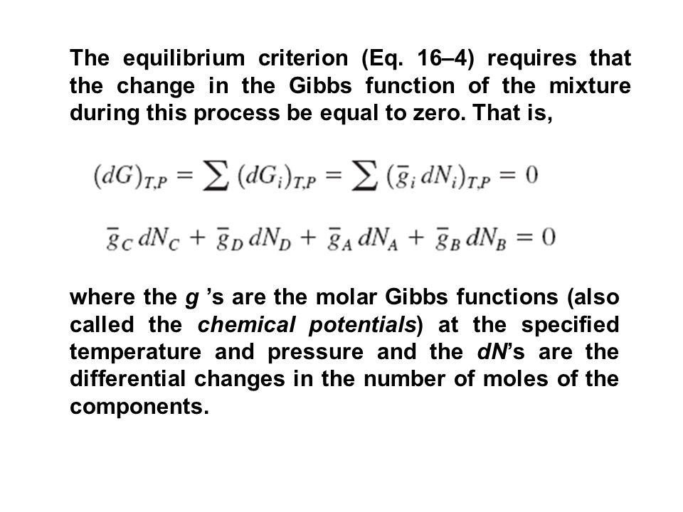 The equilibrium criterion (Eq.