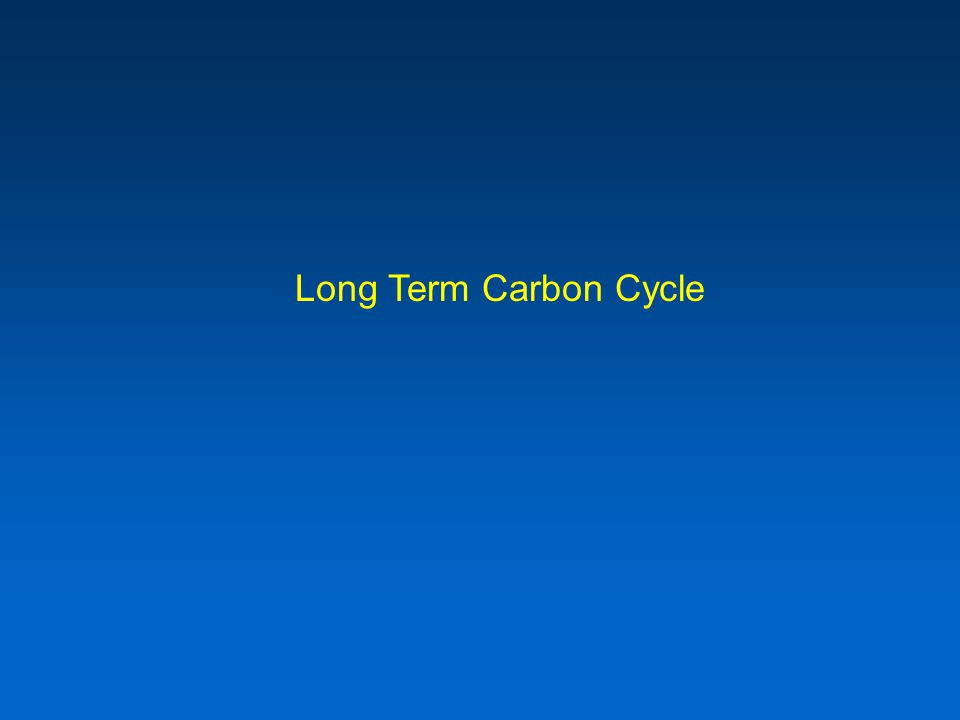Long Term Carbon Cycle