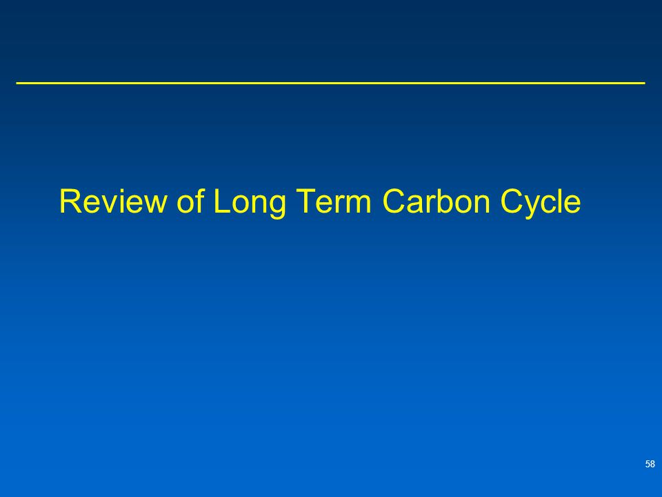 58 Review of Long Term Carbon Cycle
