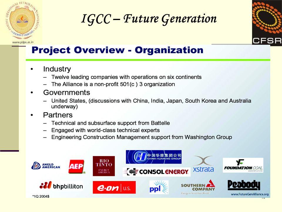 10 IGCC – Future Generation