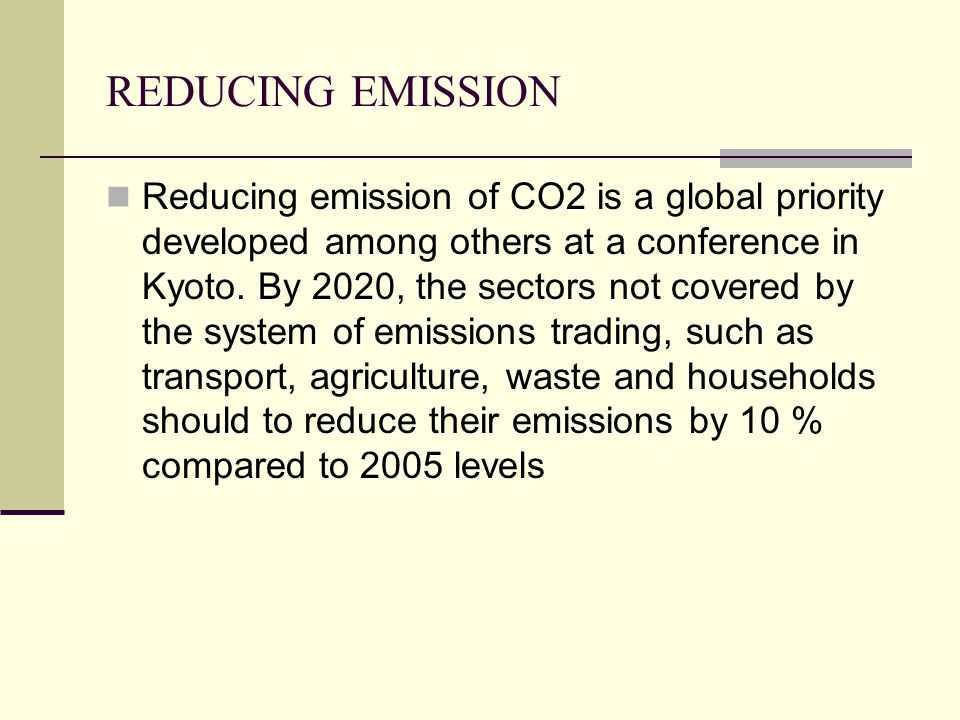 CONCLUSIONS Reducing CO2 emissions in the transport sector is a priority in the European Union.