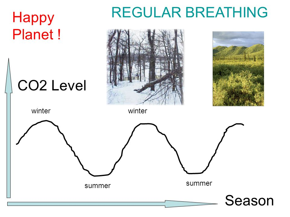winter summer CO2 Level Season Happy Planet ! REGULAR BREATHING