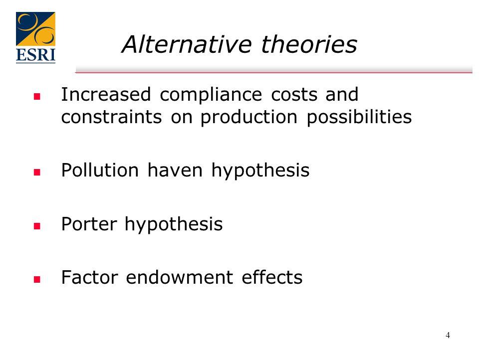 5 Previous research n n Environmental regulation & firm behaviour   Leiter et al.