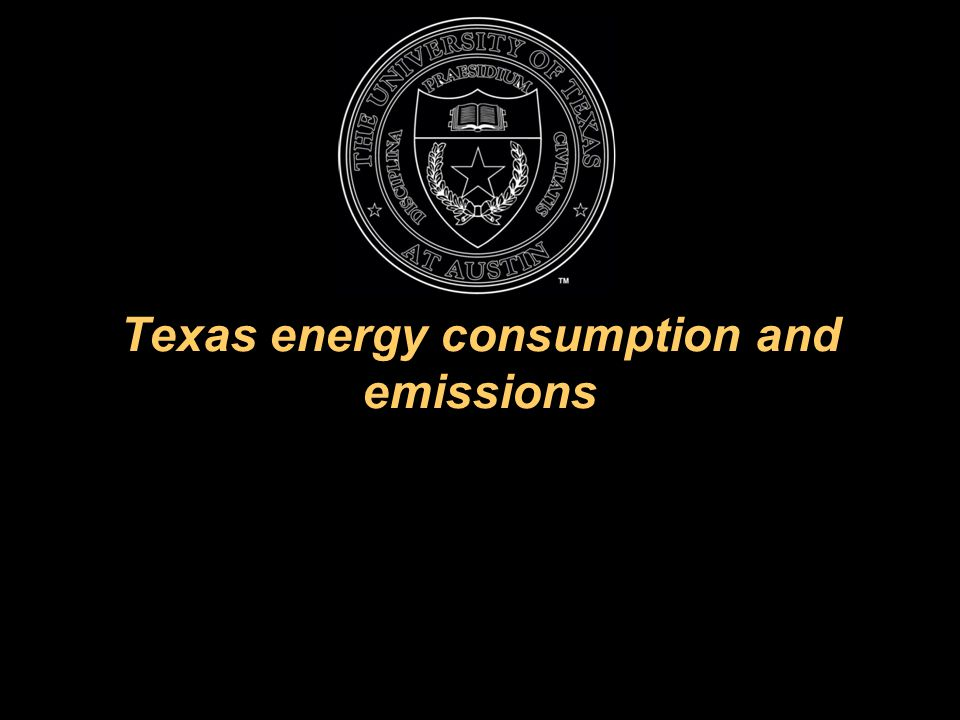Texas energy consumption and emissions