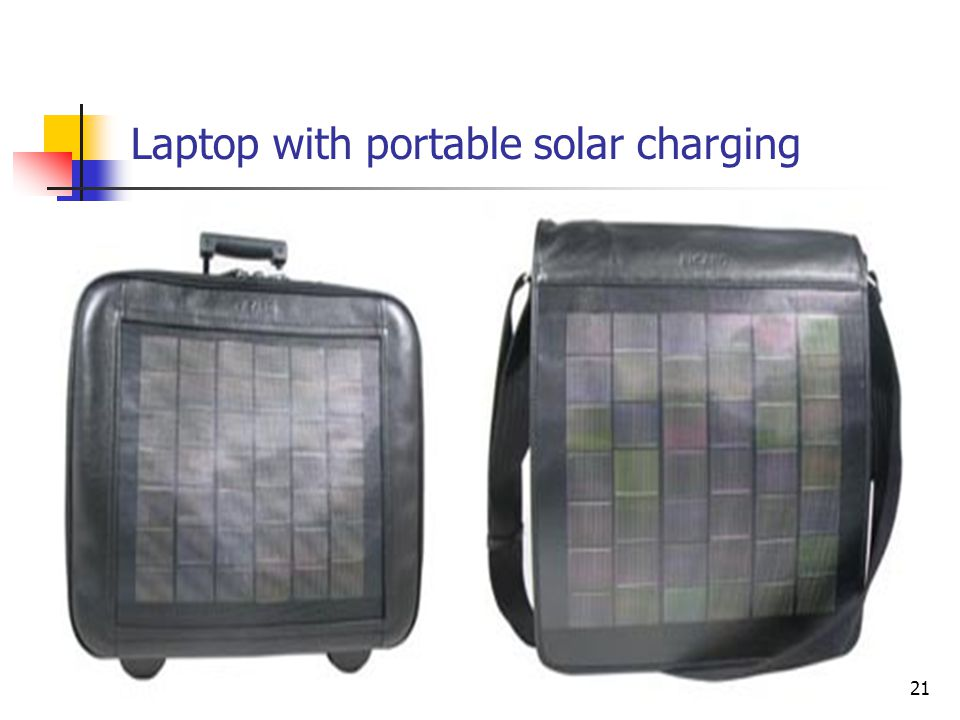 Laptop with portable solar charging 21