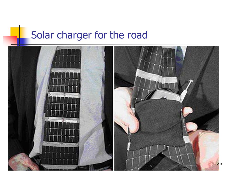 Solar charger for the road 25