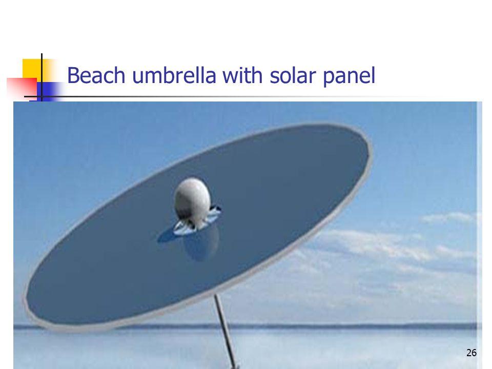 Beach umbrella with solar panel 26