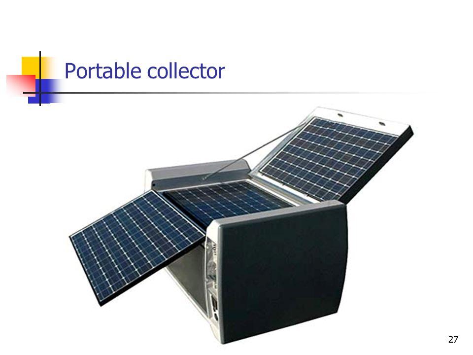 Portable collector 27