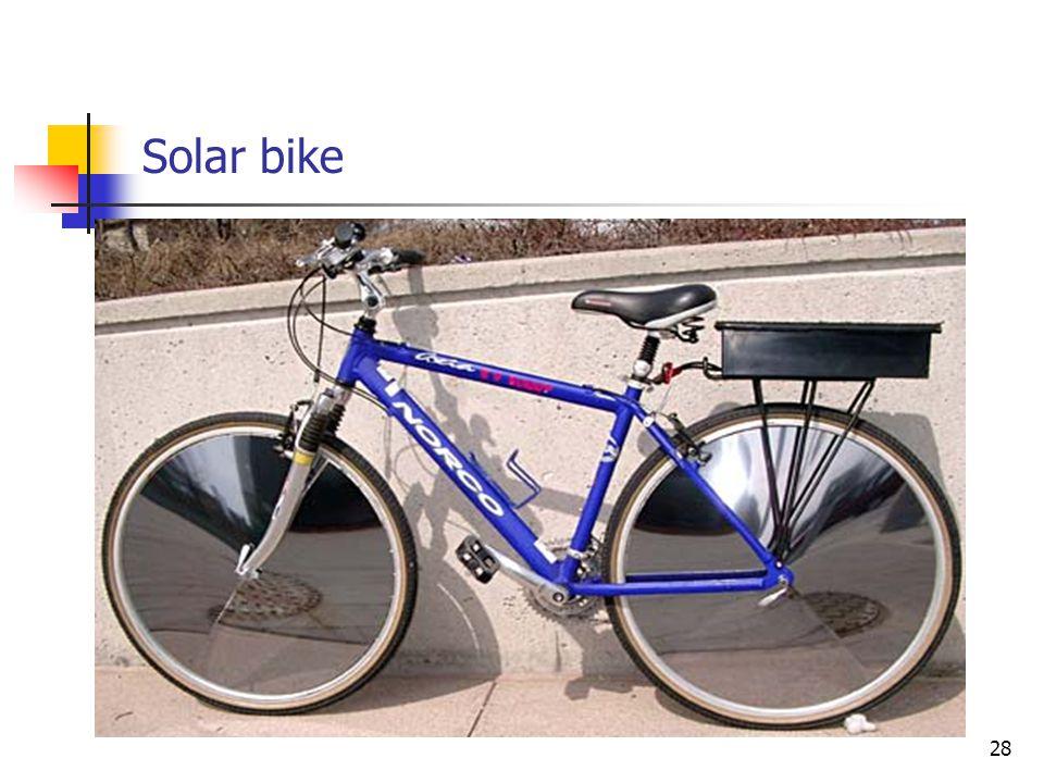 Solar bike 28