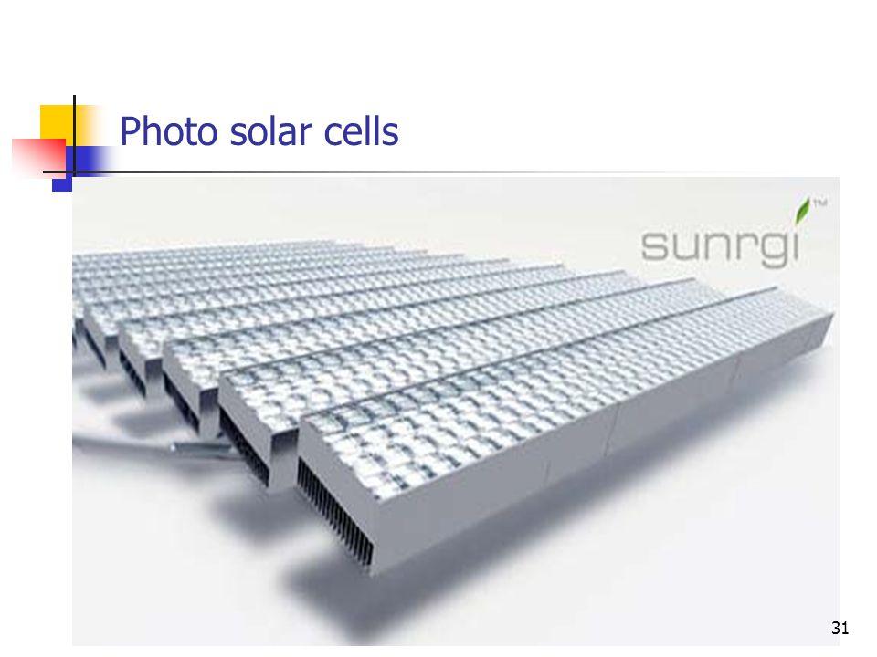 Photo solar cells 31