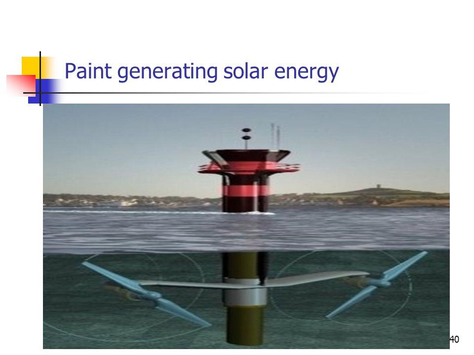 Paint generating solar energy 40