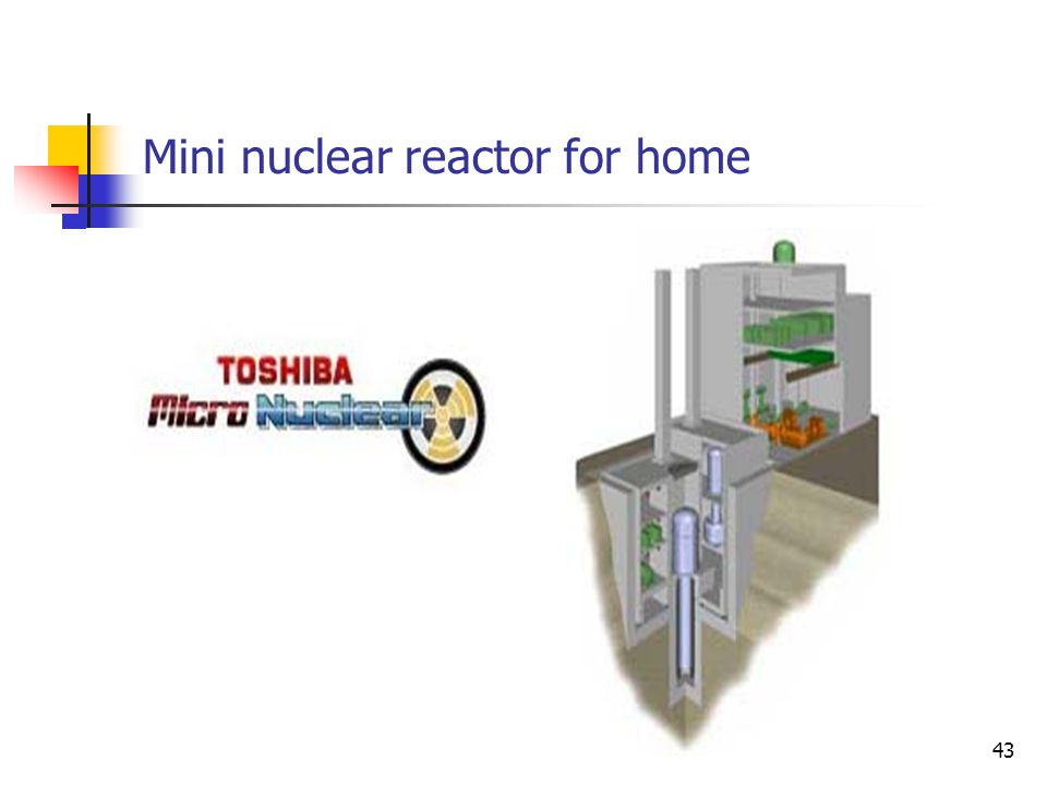 Mini nuclear reactor for home 43