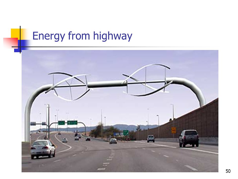 Energy from highway 50