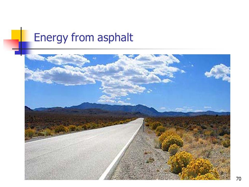 Energy from asphalt 70