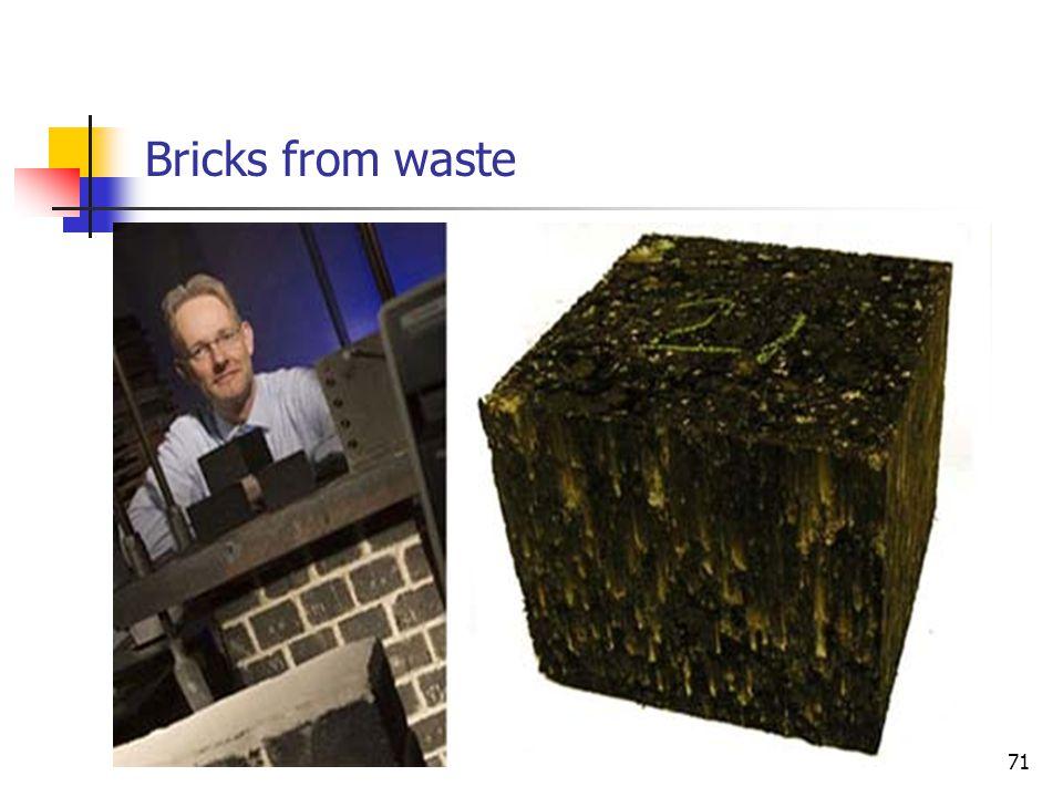 Bricks from waste 71